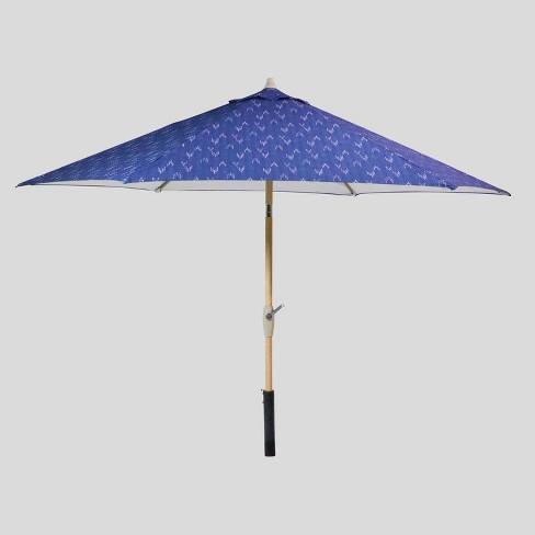 9' Round Staccato Patio Umbrella - Light Wood Pole - Threshold™ - image 1 of 3
