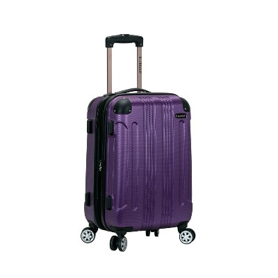 "Rockland Sonic 20"" Expandable Hardside Carry On Spinner Suitcase - Purple"