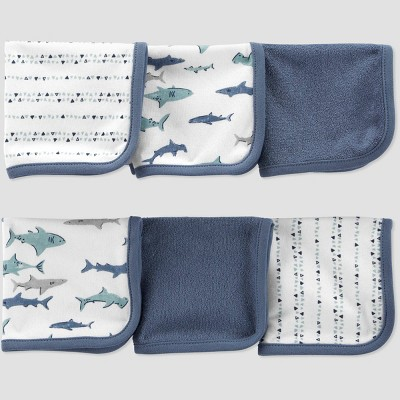 Baby Boys' Shark Washcloth Set - Just One You® made by carter's White/Blue