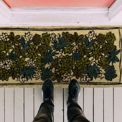 """TAG 1'6"""" X 3'3"""" Succulent Estate Coir Doormat Indoor Outdoor Welcome Mat : Target"""