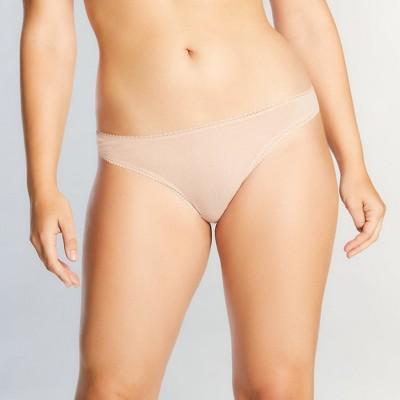 OnGossamer Women's Solid Mesh Hip-G Thong