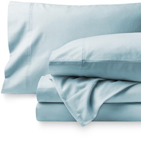 Bare Home Cotton Flannel Sheet Set Twin Xl Light Blue Target