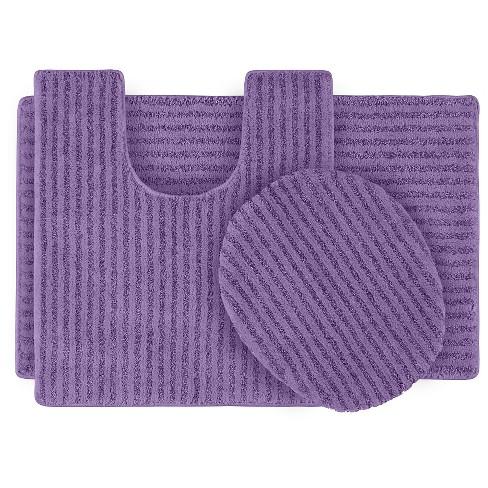 Garland 3 Piece Sheridan Plush Washable Nylon Bath Rug Set ...