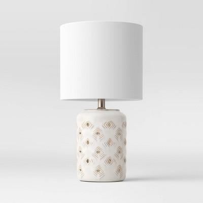 Diamond Cutout Table Lamp with Lit Base - Opalhouse™