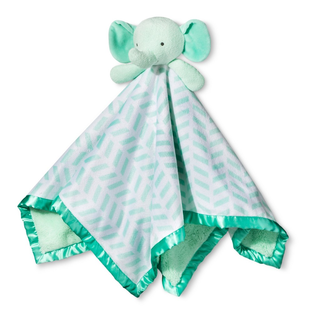 Image of Large Security Blanket Elephant - Cloud Island Mint, Green