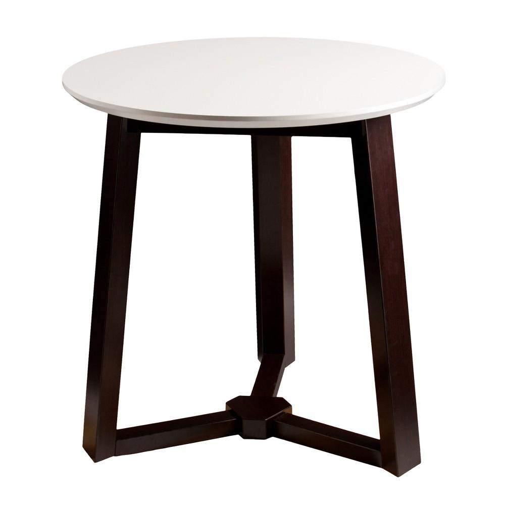 Carmen Round Mid Century Dining Table - White With Epreo - Aiden Lane