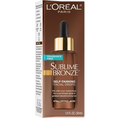 L'Oreal Paris Sublime Bronze Self-Tanning Facial Drops Fragrance-Free - 1 fl oz