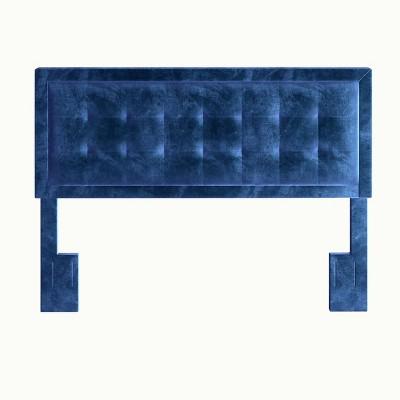 King/California King Harlow Button Tufted Velvet Upholstered Adjustable Headboard - Eco Dream