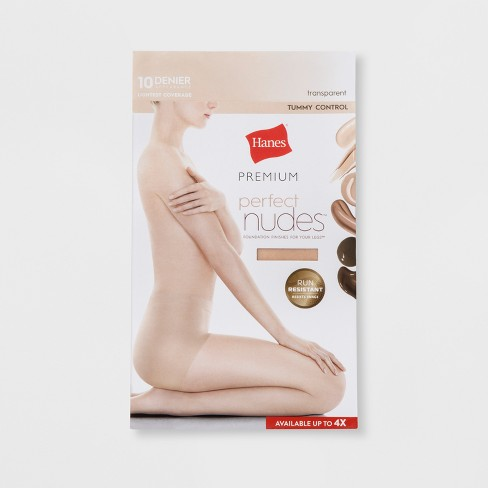 f24a2f1f7 Hanes® Premium Women s Perfect Nudes Control Top Silky Ultra Sheer Pantyhose  - Transparent 3X 4X    Target
