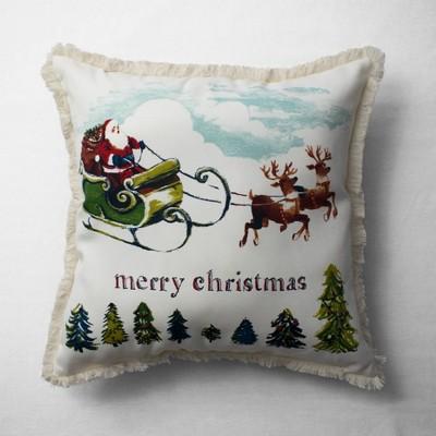 Santa Land Throw Pillow Cream - Threshold™