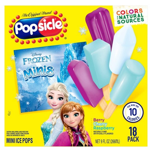 Popsicle Berry Cherry Raspberry Disney Frozen Mini Ice Pops - 18ct - image 1 of 4