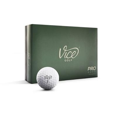Vice Pro Soft Golf Balls - White
