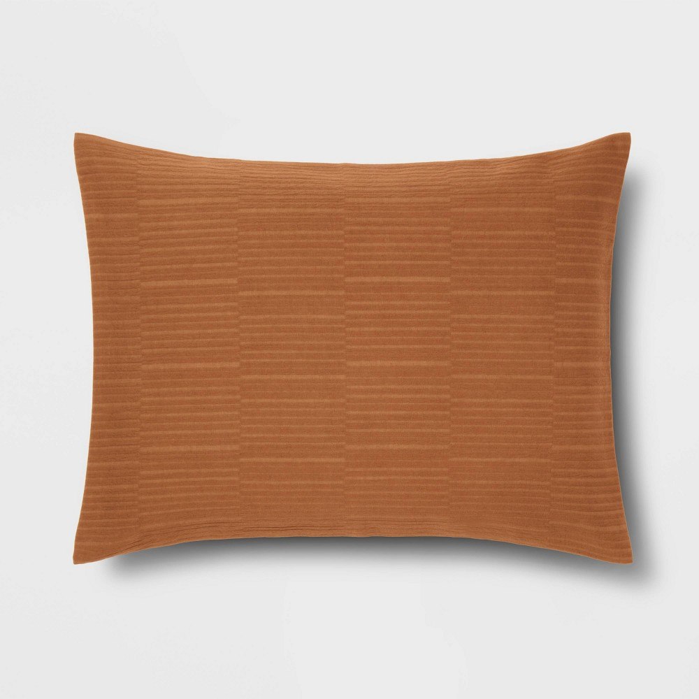 Standard Textural Stripe Sham Bronze Project 62 8482 Nate Berkus 8482