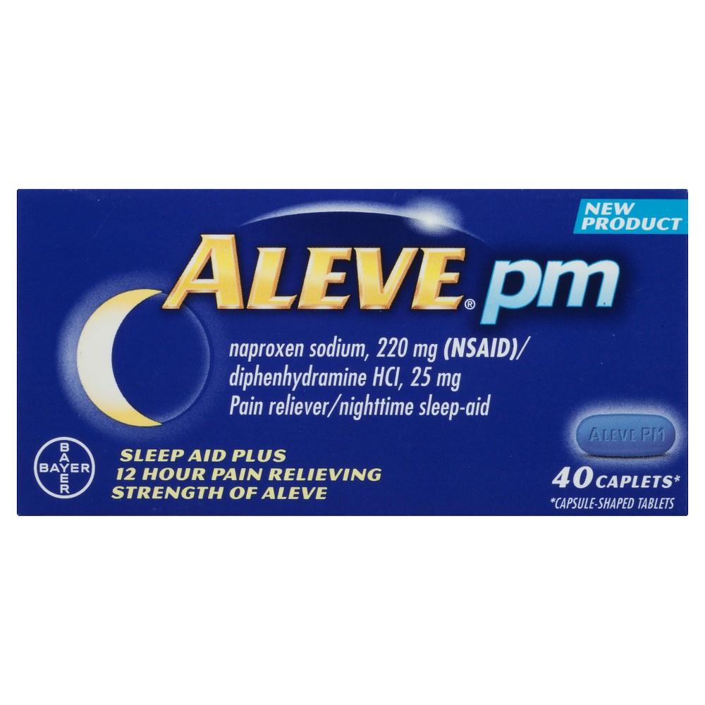 Aleve PM Sleep Aid Plus Pain Relief Caplets - Naproxen Sodium (Nsaid) - 40ct