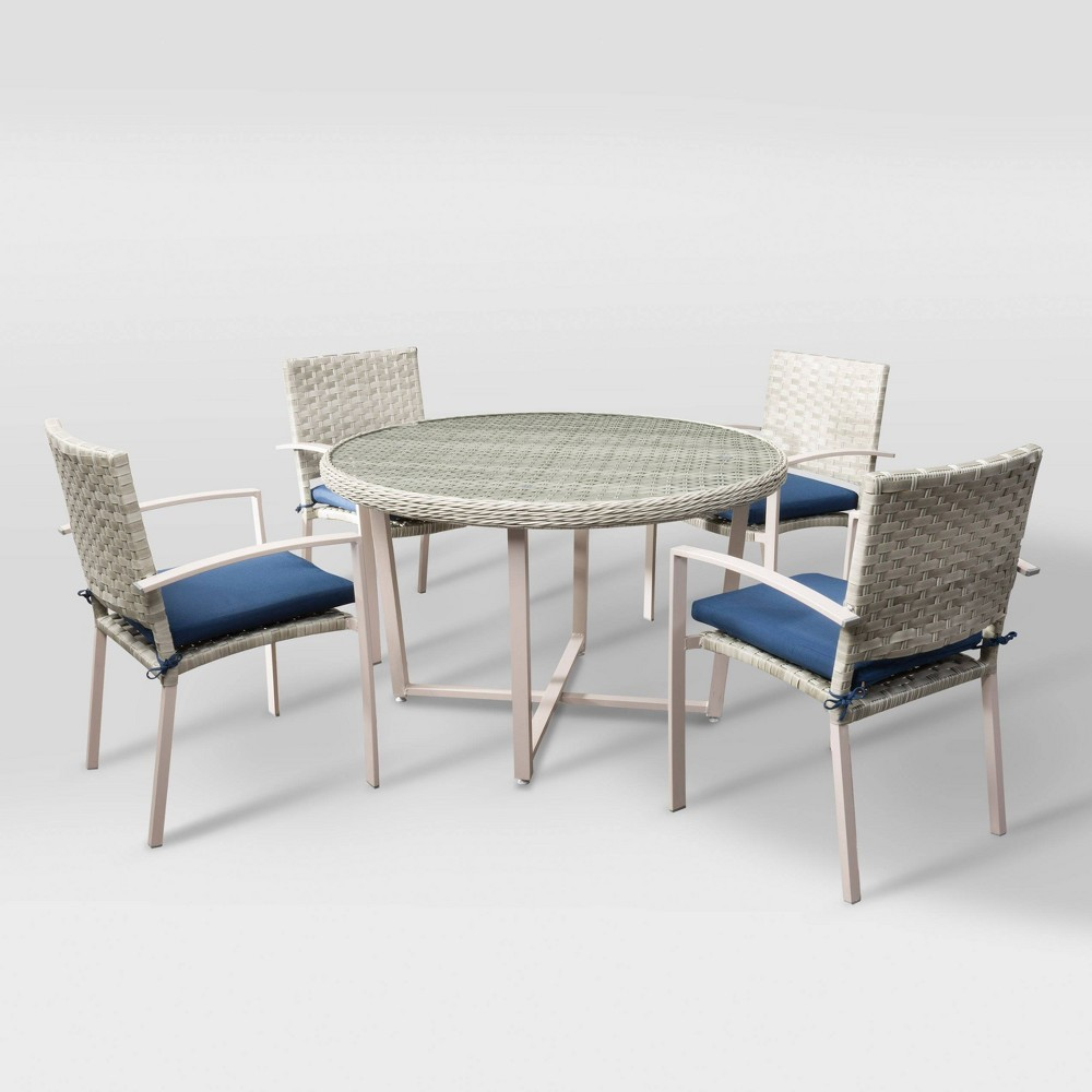 Parkview 5pc Patio Dining Set - Blended Gray/Navy (Blue) - CorLiving