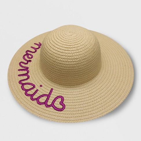 Toddler Girls  Embroidered  Mermaid  Floppy Hat - Cat   Jack ... f3a8565b005f