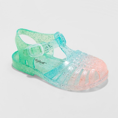 f8e2f9e8ed8e Toddler Girls  Fleur Jelly Fisherman Sandals - Cat   Jack™   Target