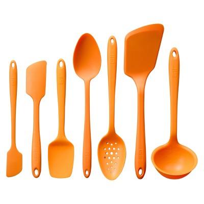 GIR Ultimate Silicone Kitchen Tool 7pc Set Orange