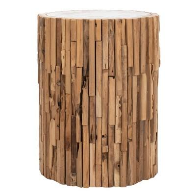 Minidoka Round Stool Medium Oak - Safavieh