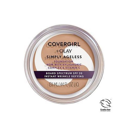 COVERGIRL + Olay Simply Ageless Wrinkle Defying Foundation Compact - 0.4oz - image 1 of 4