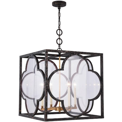 "Elegant Lighting 1526D22 Trinity 4 Light 22"" Wide Cage Taper Candle Style Chandelier - image 1 of 1"