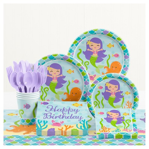 Mermaid Friends Birthday Party Supplies Kit Target