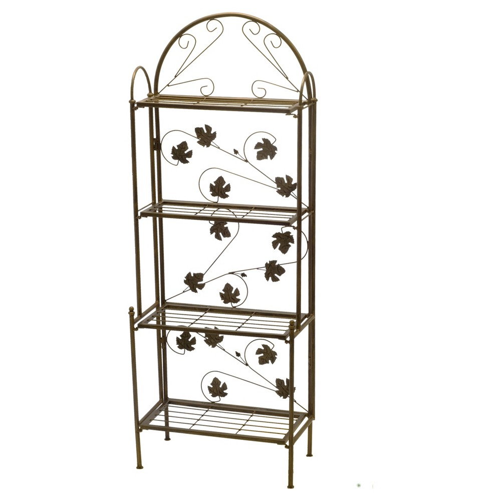 "Image of ""23"""" Rectangular Oakland Living Plant Stand - Black"""