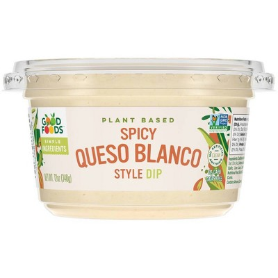 Good Foods Plant Based Spicy Queso Blanco Style Dip - 12oz