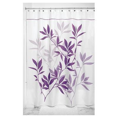 Shower Curtain Interdesign Leaf Purple