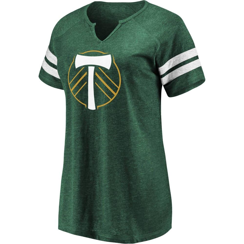 Mls Portland Timbers Women 39 S Short Sleeve Split Neck T Shirt Xxl