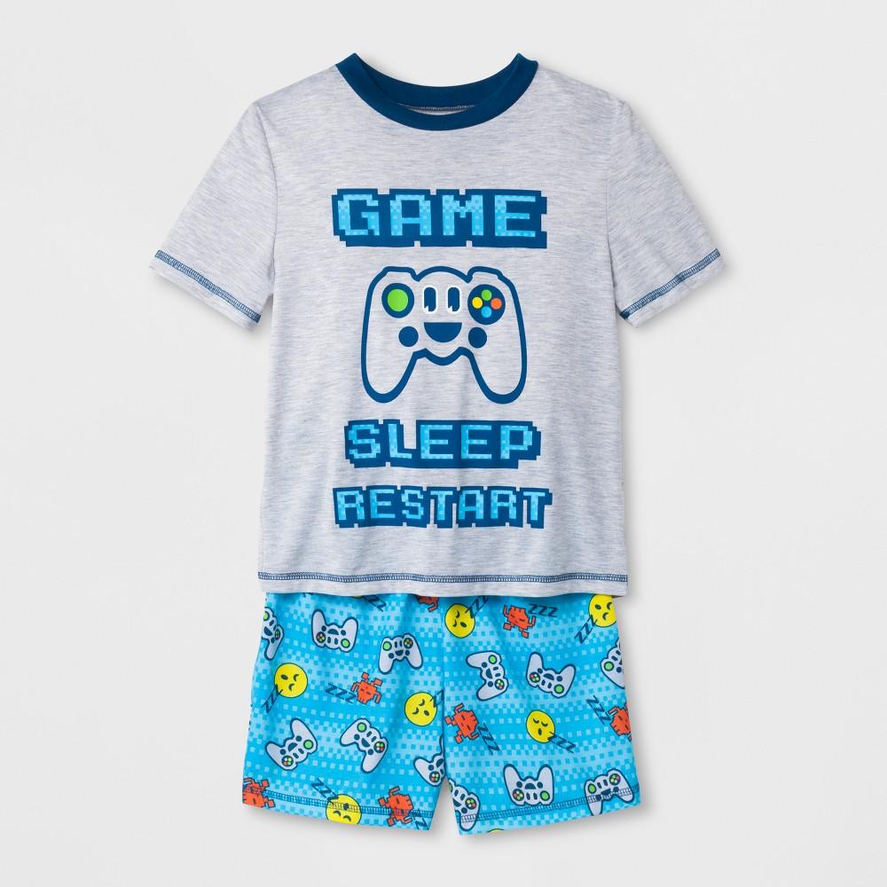 Boys' Emoji 2pc Pajama Set - Bright Blue S