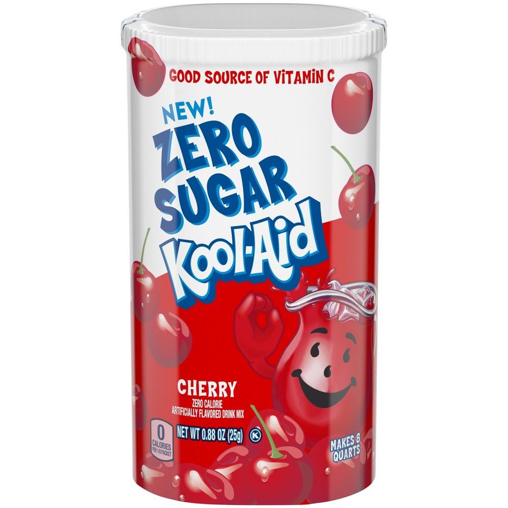 Kool-Aid Cherry Soft Drink Mix Zero Sugar - 4pk/0.228oz Canisters