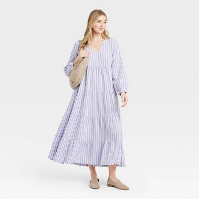 Women's Balloon Long Sleeve Tiered Dress - Universal Thread™