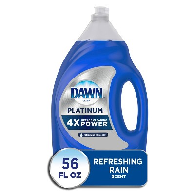Dawn Platinum Dishwashing Liquid Dish Soap, Refreshing Rain Scent - 54.9 fl oz