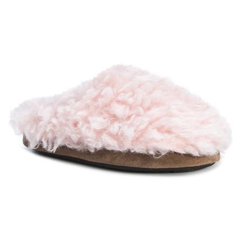 fb7a422e4a9 Women s MUK LUKS® Lucia Faux Fur Slide Slippers - Light Pink XL(11 ...