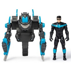 """Batman 4"""" Nightwing Mega Gear Deluxe Action Figure with Transforming Armor"""