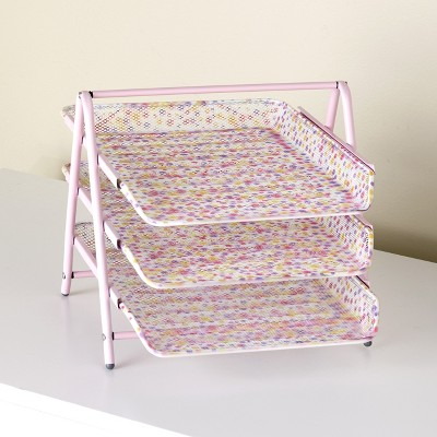 Lakeside 3-Tier Paper Tray Organizer For Home and Office -