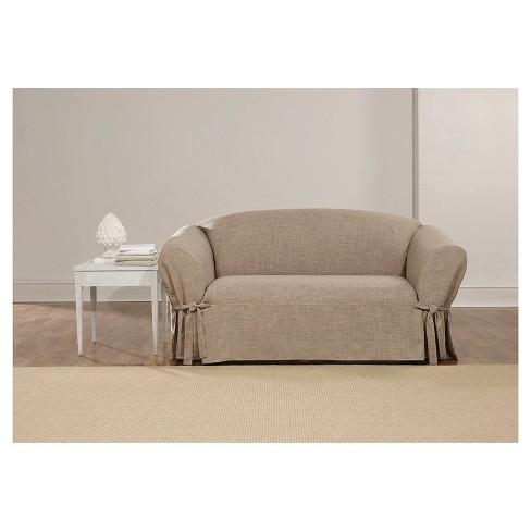 Textured Linen Loveseat Slipcover - Sure Fit : Target