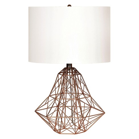 Ren-Wil Cipher Table Lamp - White/Brass - image 1 of 1
