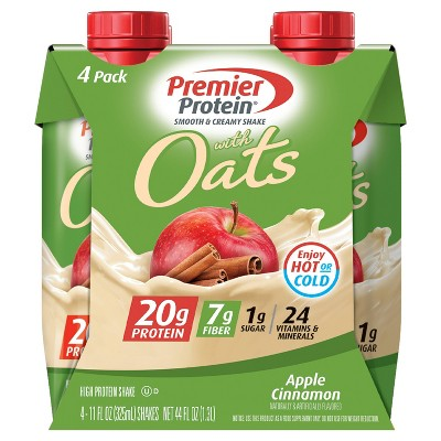 Premier Protein Nutritional Shake - Oats, Apple & Cinnamon - 4pk/44 fl oz