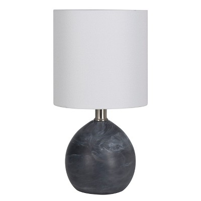 Faux Alabaster Globe Table Lamp Black (Includes Energy Efficient Light Bulb)- Project 62™