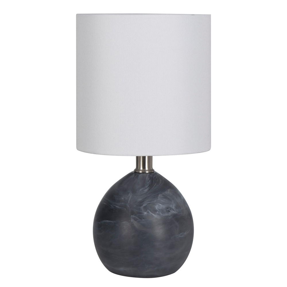 Faux Alabaster Globe Table Lamp Black (Includes Energy Efficient Light Bulb) - Project 62