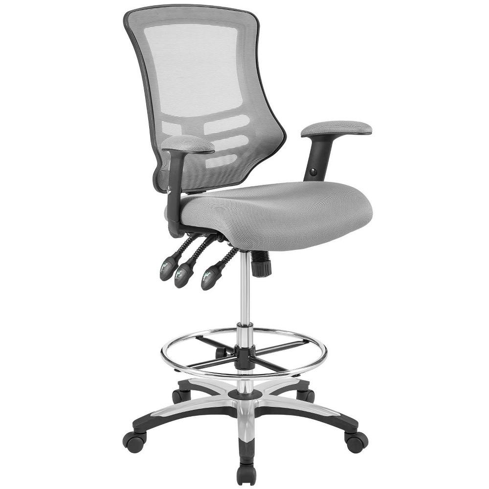 Calibrate Mesh Drafting Chair Gray - Modway
