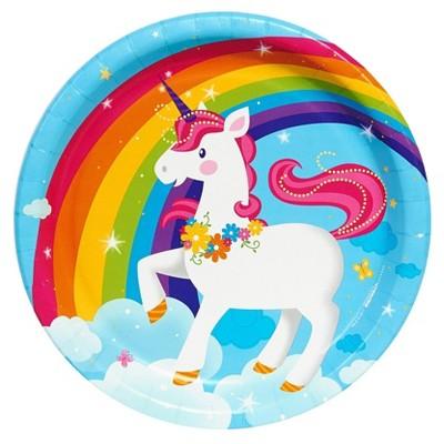 Fairytale Unicorn Party Dinner Plate
