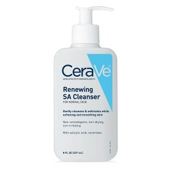 CeraVe Renewing SA Face Cleanser for Normal Cleanser with Salicylic Acid - 8 fl oz