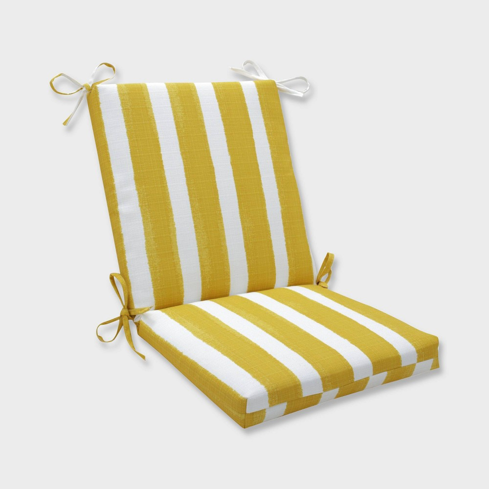 Pleasant Nico Pineapple Squared Corners Outdoor Chair Cushion Yellow Gmtry Best Dining Table And Chair Ideas Images Gmtryco