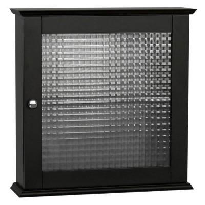 Chesterfield 1 Door Wall Cabinet Dark Espresso - Elegant Home Fashions