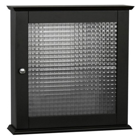 Chesterfield 1 Door Wall Cabinet Dark Espresso - Elegant Home Fashions - image 1 of 3