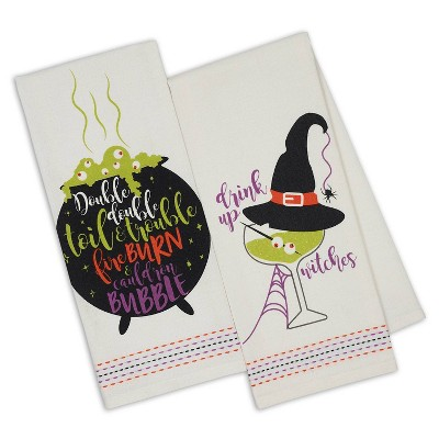 2pk Kitchen Towels Witchy Brew Printed - Design Imports