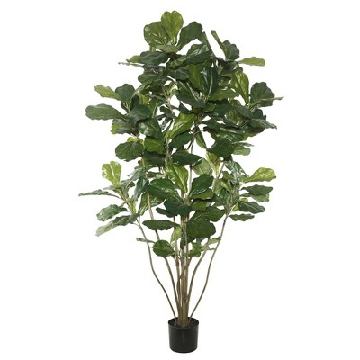 5' Artificial Potted Fiddle Tree - Vickerman